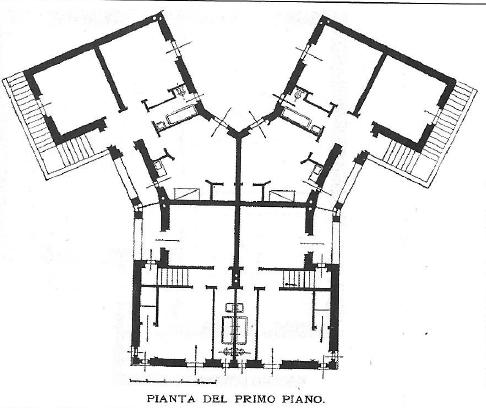 Archidiap case modello icp lotto 24 alla garbatella for Casa moderna pianta