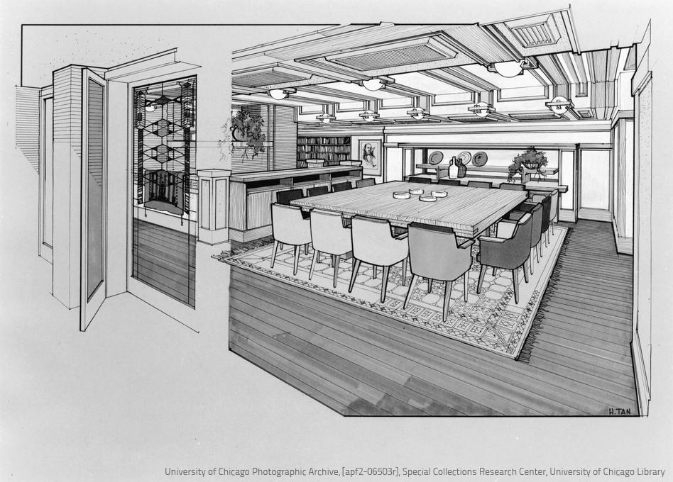 Archidiap frederick c robie house for Semplici piani di una stanza