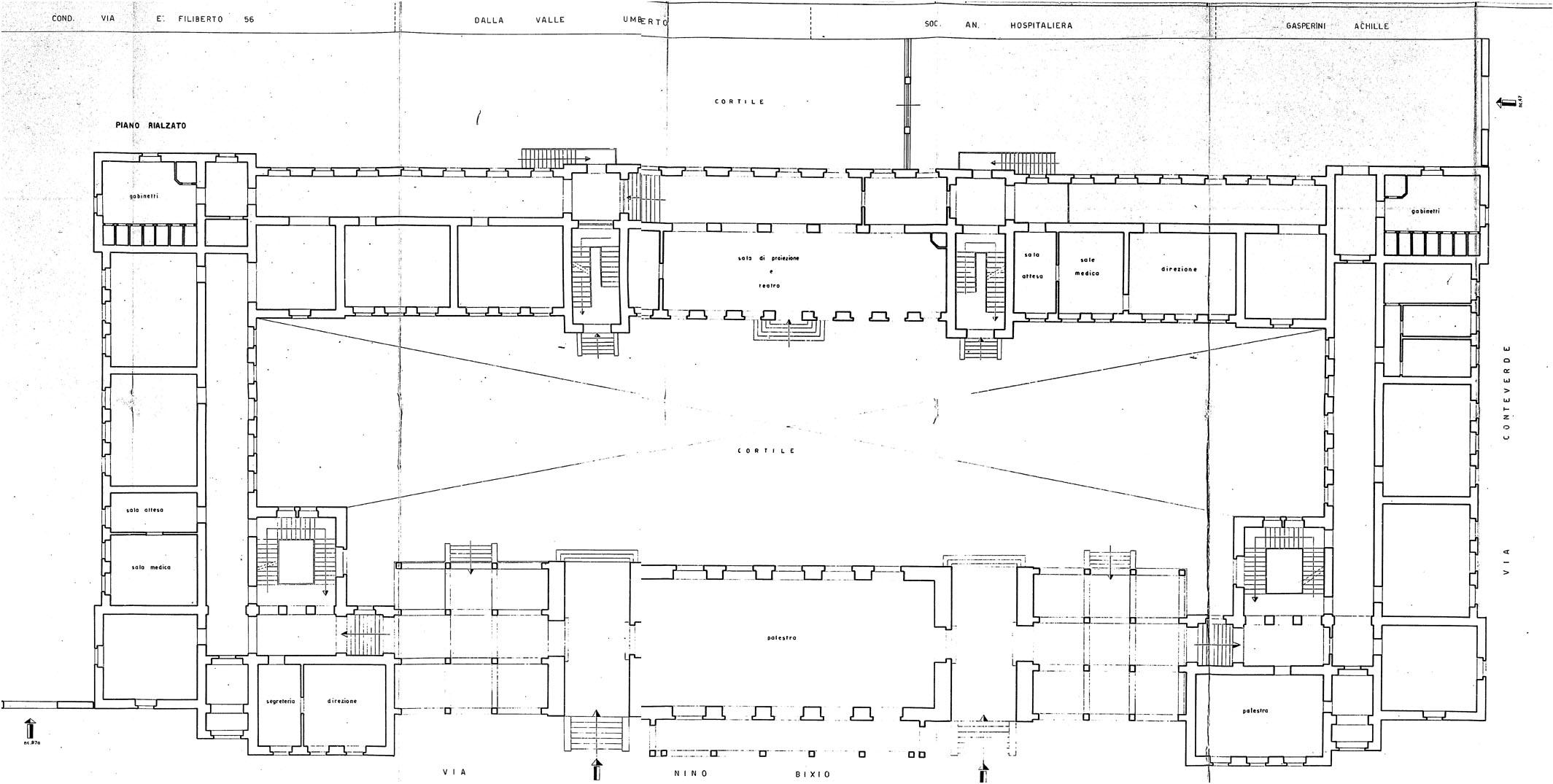 Archidiap scuola in via nino bixio for Pianta del pavimento con dimensioni
