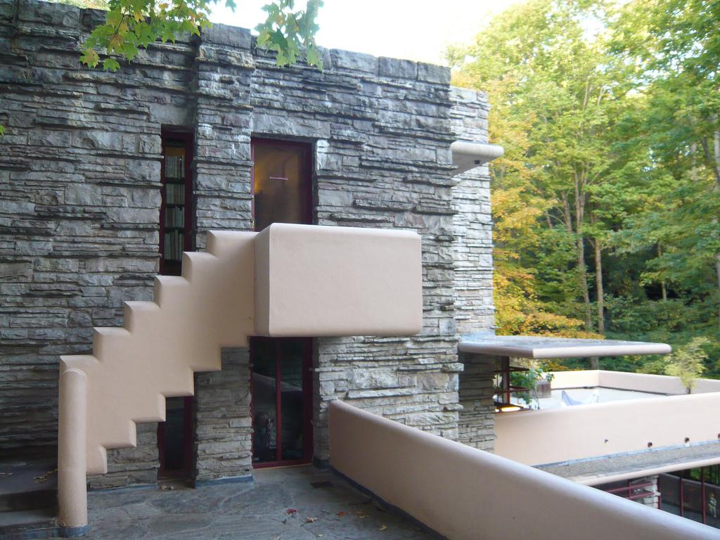 Ingresso Casa Esterno In Pietra archidiap » fallingwater house